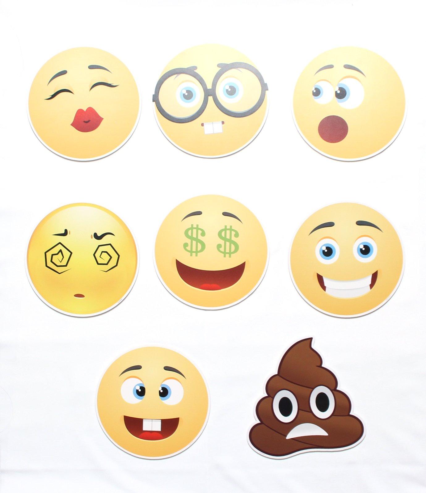 4E's Novelty 144 2 inch Temporary Emoji Tattoos - 12 ... |Nice And Friendly Emoji
