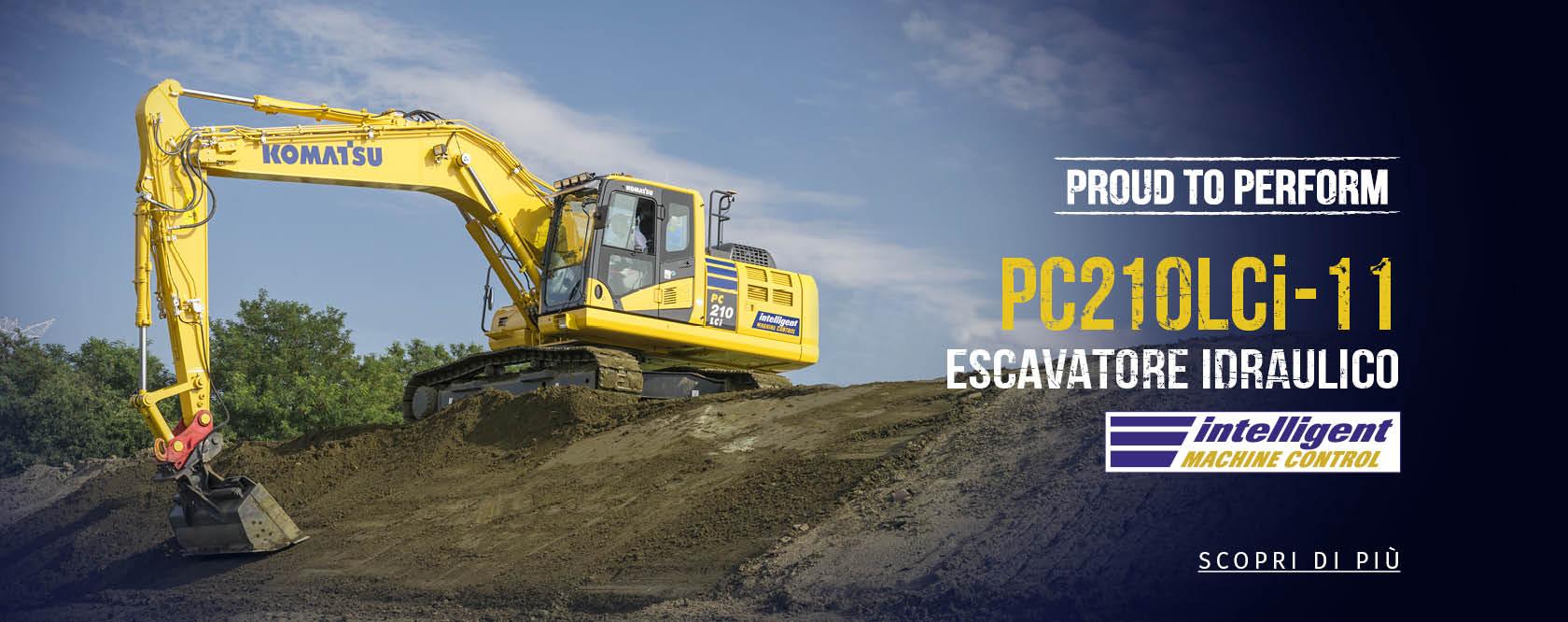 un escavatore idraulico  giallo PC210LCi - 11