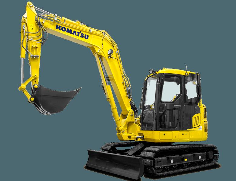 un escavatore giallo Komatsu