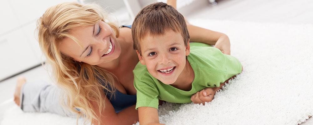 Family enjoying clean carpet in Christchurch