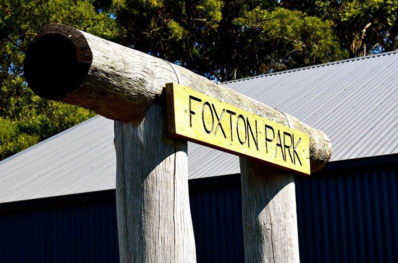 Foxton park signage