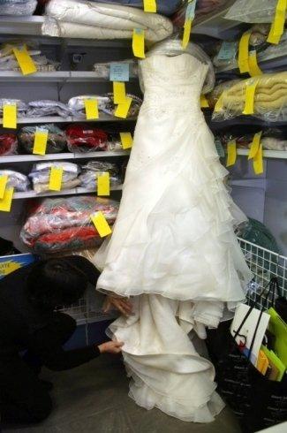 lavaggio abiti da sposa