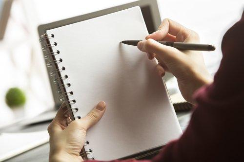 Bloc notes con penna