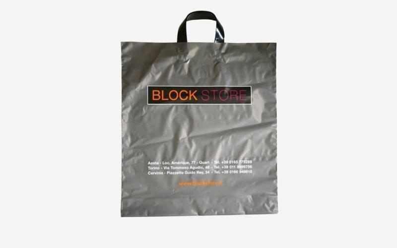 Sacchetti in plastica block store