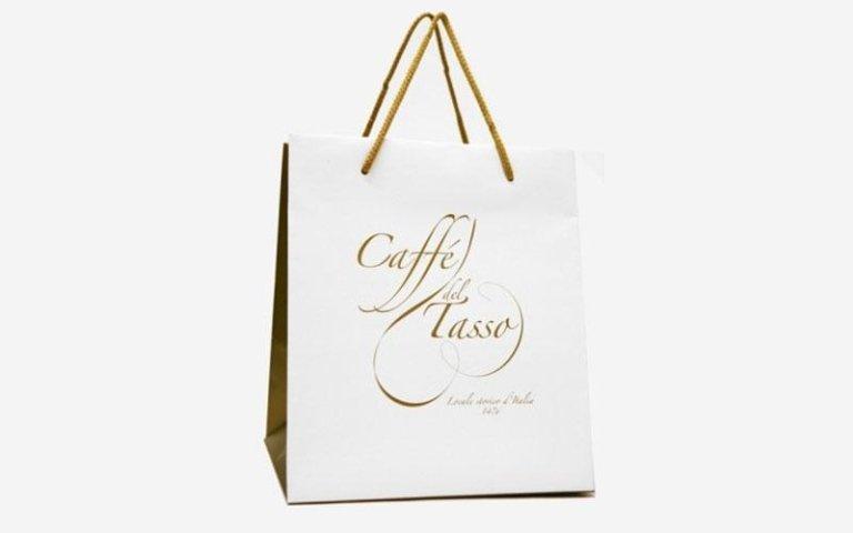 Sacchetti in carta caffè del tasso