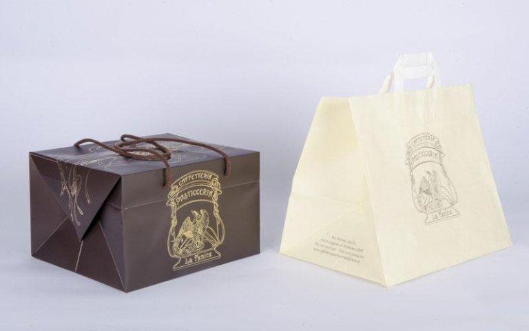 LA FENICE bauletto  regalo e sacchetto piattina