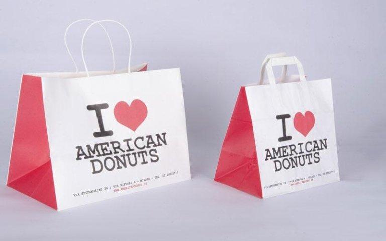 sacchetto di carta american donuts