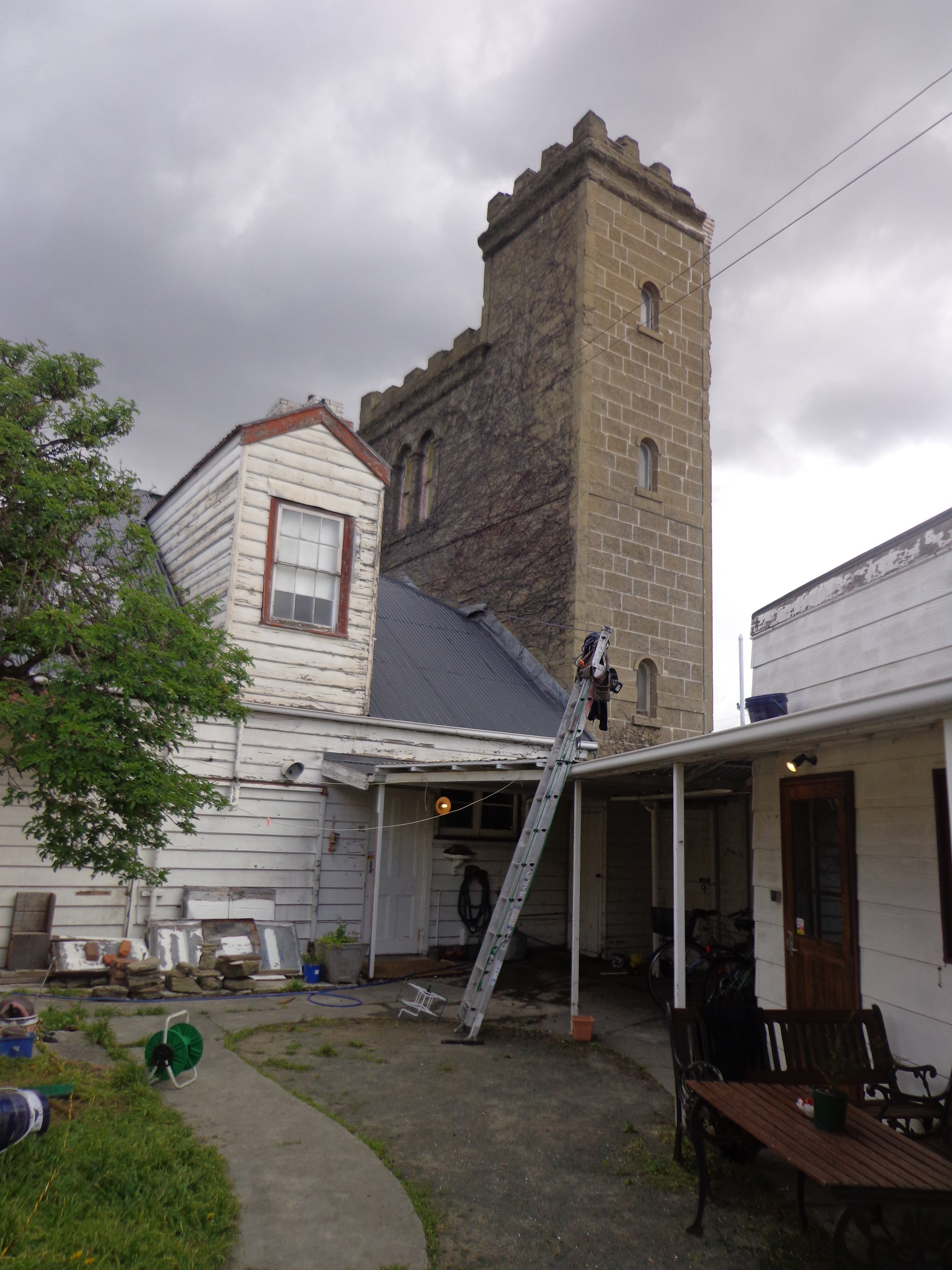 Roof restoration repairs old tower roof heritage and slate roofing hobart australia