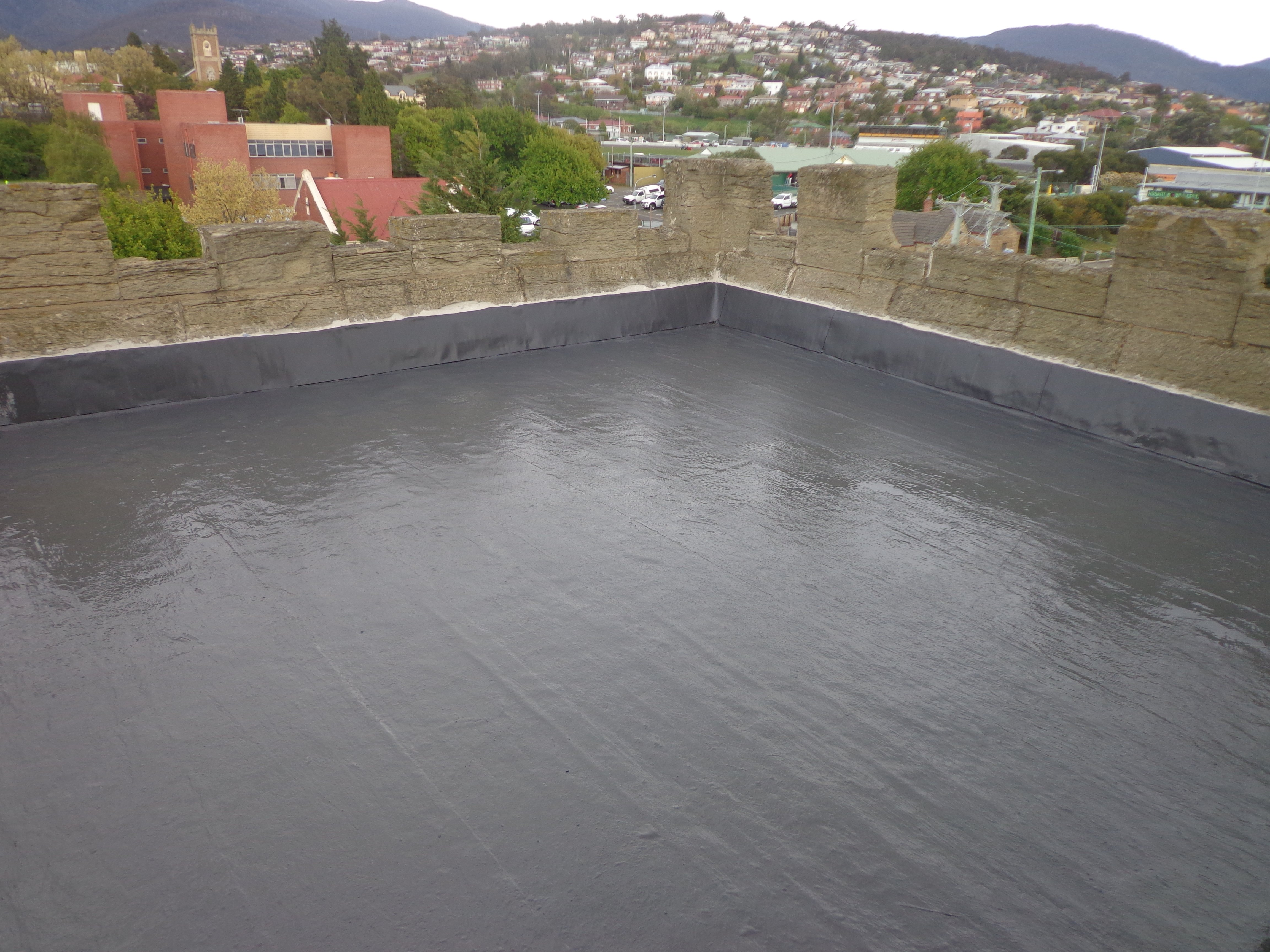 Roof restoration repairs water proofing heritage and slate roofing hobart australia