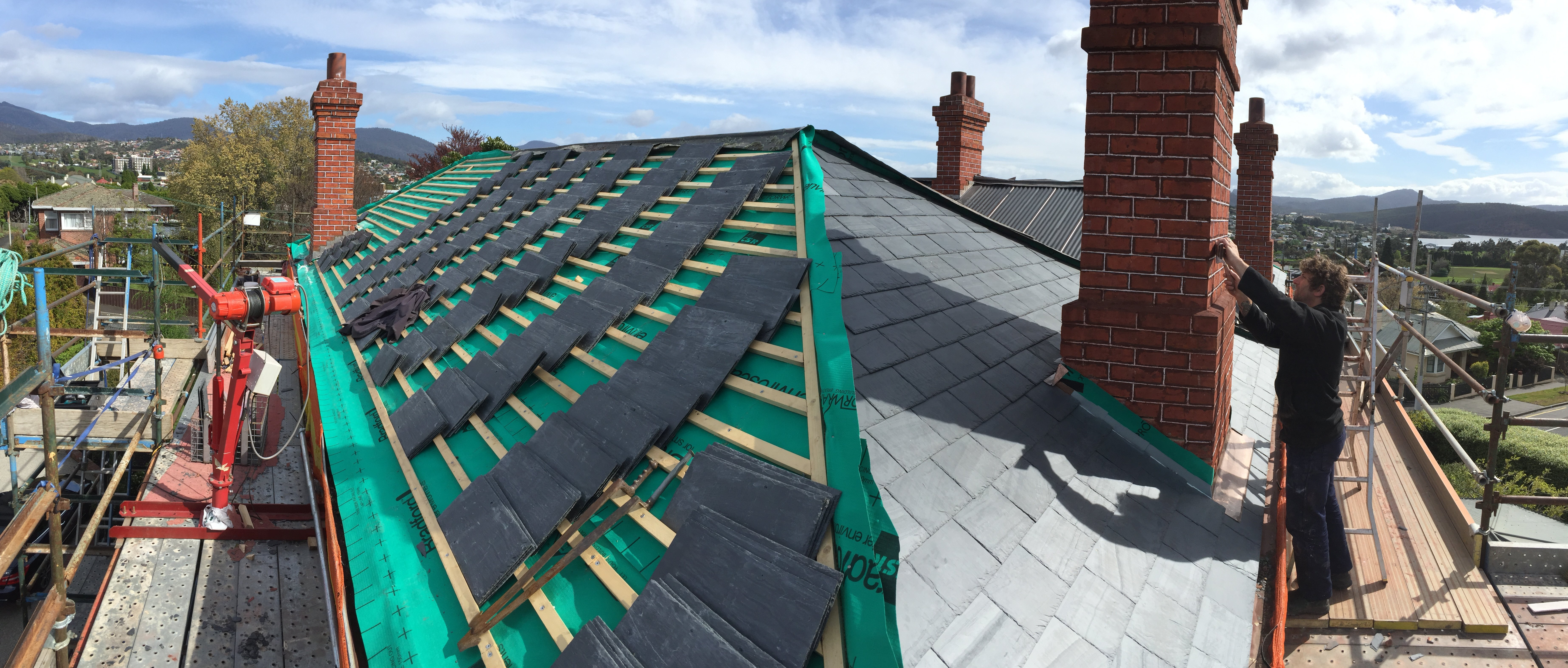 new  welsh heather grey slate roof Heritage and slate roofing hobart australia