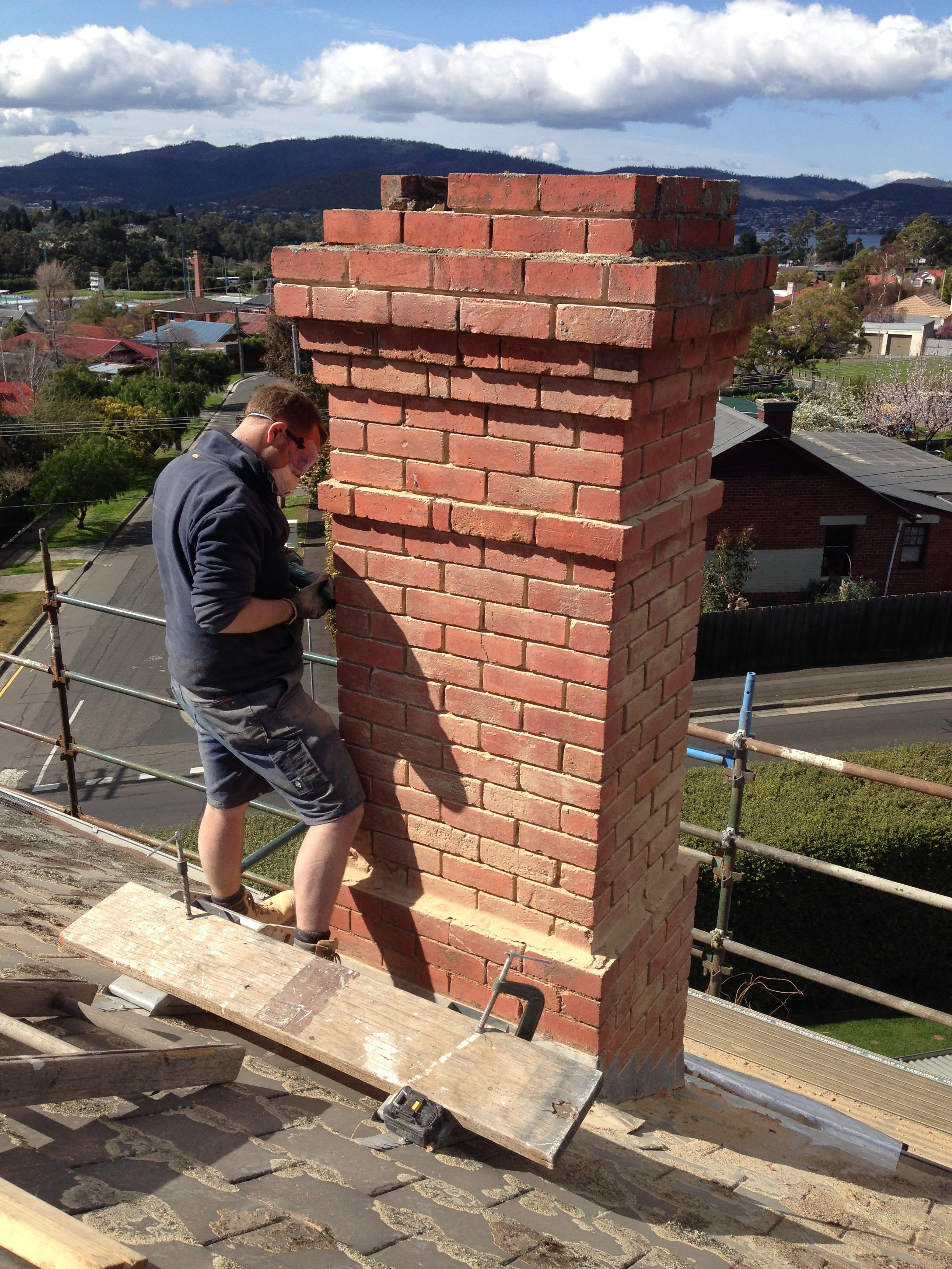 chimney repointing tuck pointing  Heritage and slate roofing hobart australia