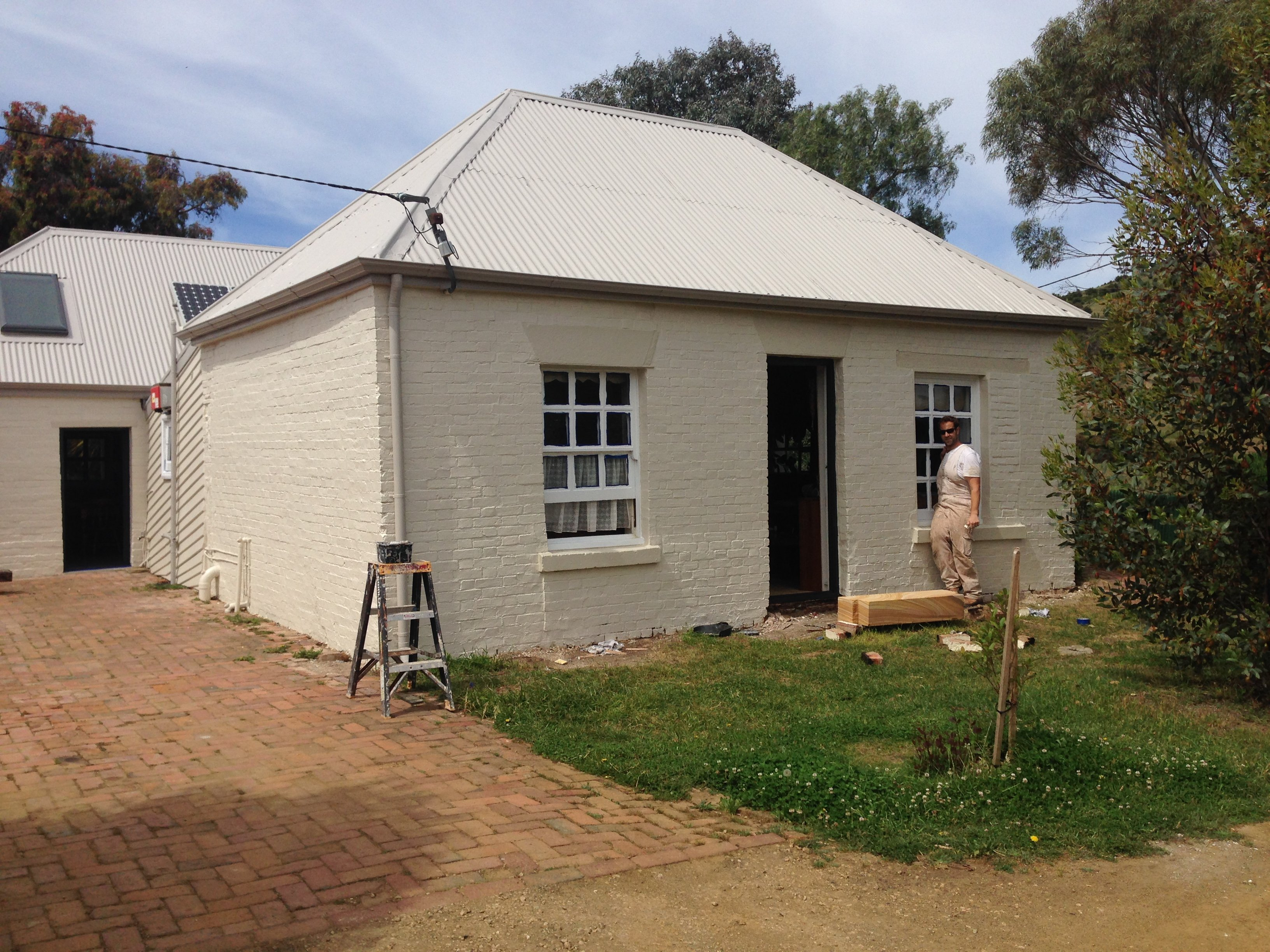 Roof restoration repairs small cottage painting heritage and slate roofing hobart australia
