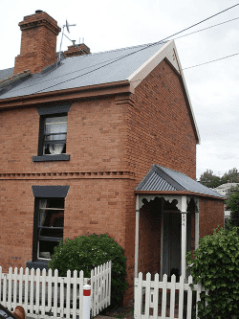 Roof restoration repairs brown house heritage and slate roofing hobart australia