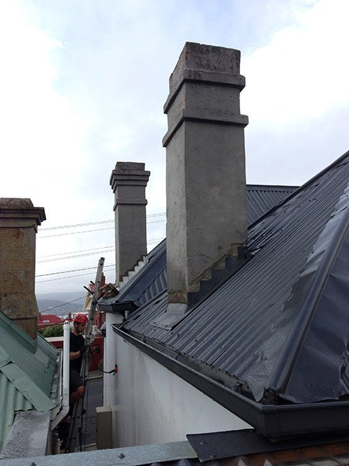 chimney repairs chimney removal and chimney restoration heritage slate roofing hobart australia