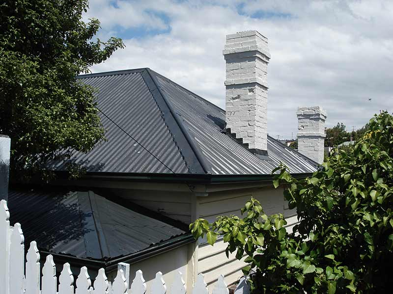 chimney painting and chimney removal and chimney restoration heritage slate roofing hobart australia
