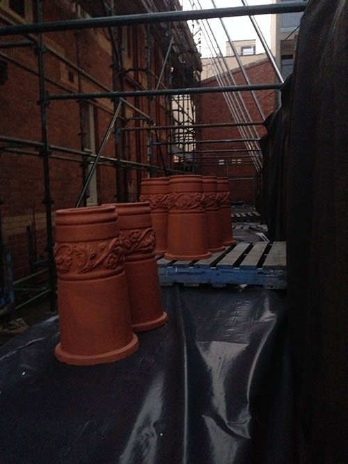 chimney pots chimney removal and chimney restoration heritage slate roofing hobart australia