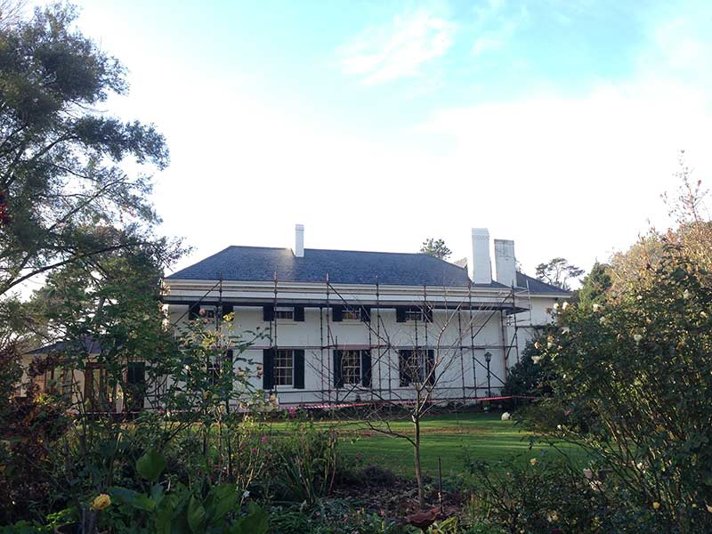 New welsh heather grey slate roof Brickendon estate Longford Heritage and slate roofing Hobart Australia