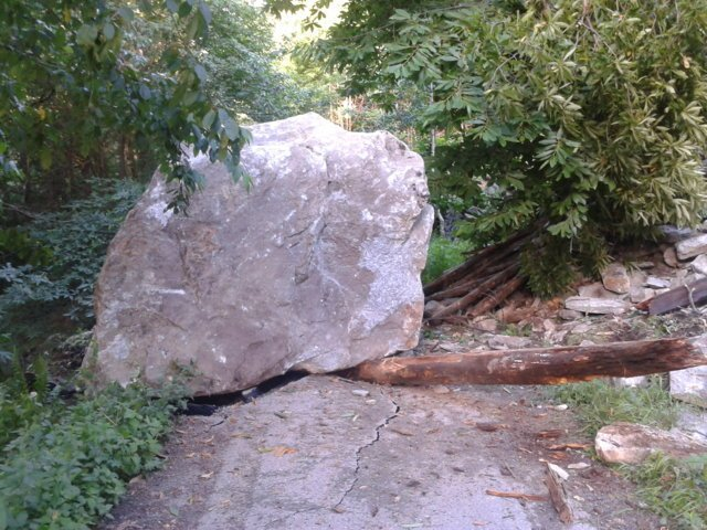 Frane e crolli a Prata Camportaccio