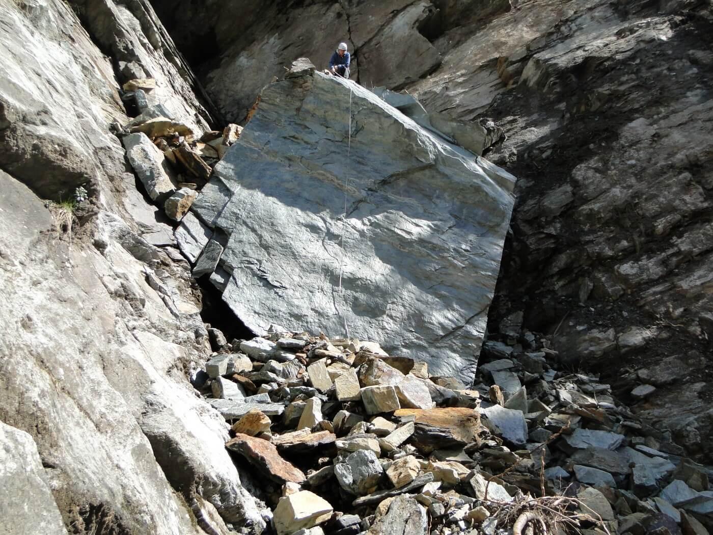 Pietre della roccia a Prata Camportaccio