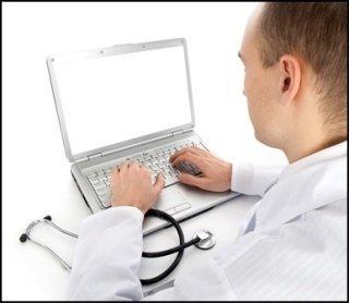 medico, computer, dottore