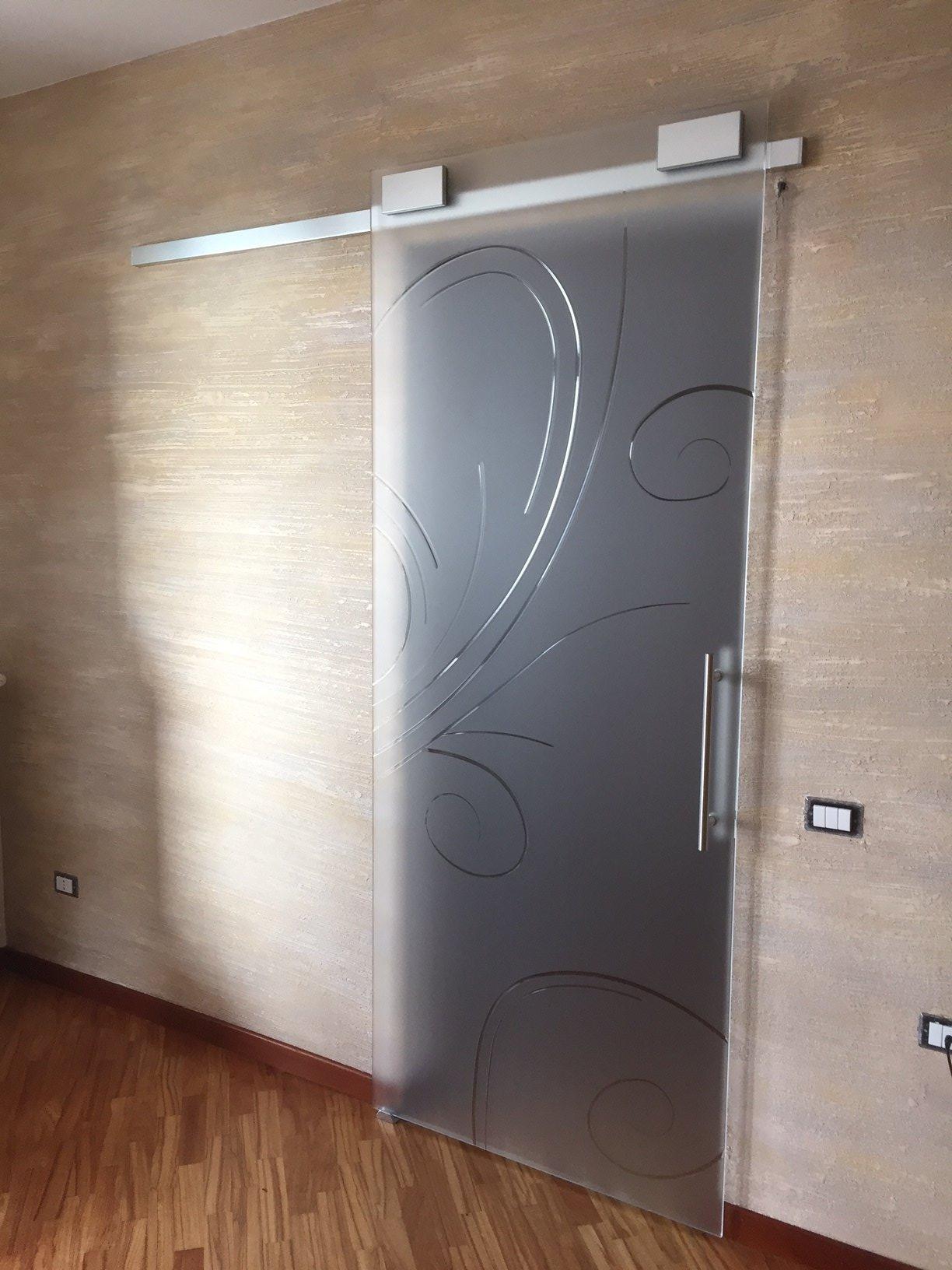 Porte scorrevoli con vetro satinato al42 pineglen - Porte in vetro design ...