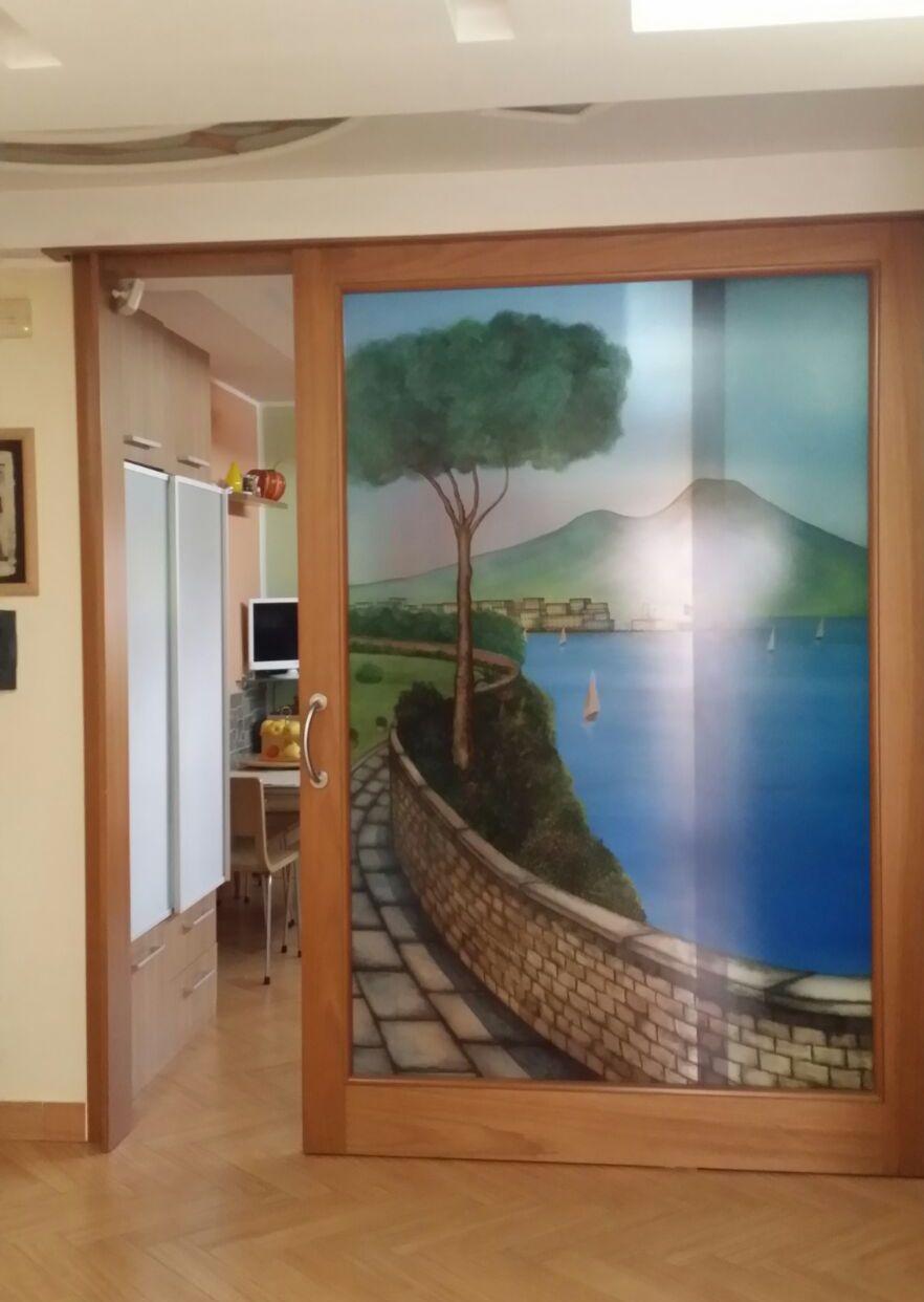 Porte in vetro napoli vm art design glass porte in - Parete vetrata esterna ...