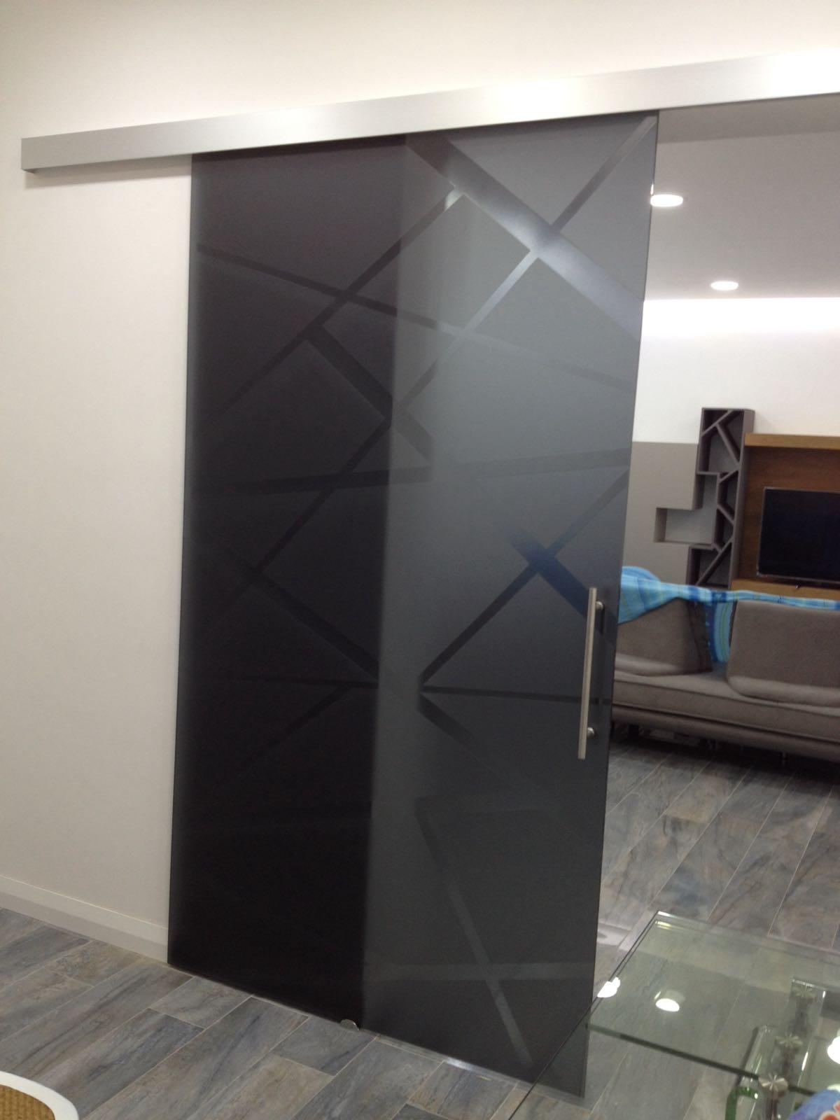 Porte in vetro napoli vm art design glass porte in - Porta scorrevole vetro satinato ...