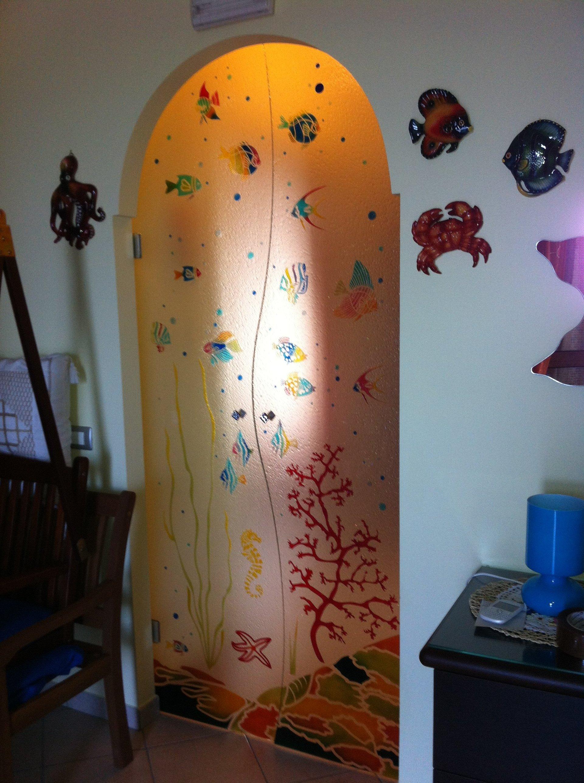 Doppia Porta Scorrevole : Porte in vetro napoli vm art design glass