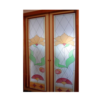 Porte in vetro napoli vm art design glass porte in vetro e vetrate artistiche casoria - Porte a vetri decorate ...