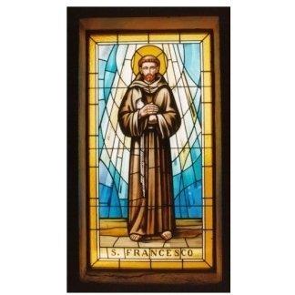 Vetrata artistica religiosa rappresentante S. Francesco