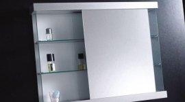 Mobile bagno con mensole in vetro