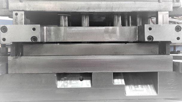 Dettaglio di un macchinario per lavorazione metalli