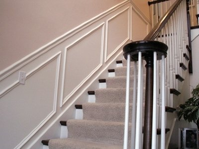 Stairs after professional commercial and residential painting services in New London, CT