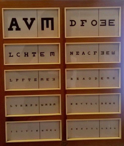 delle lettere dell'alfabeto per dei test visivi