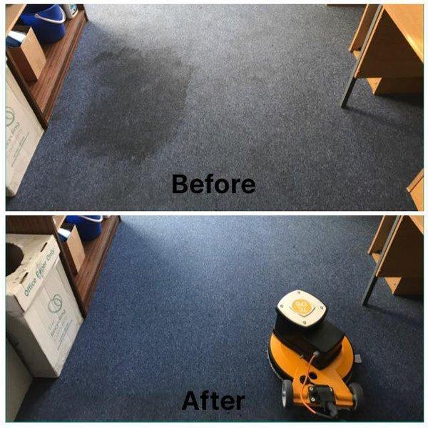 vacuum cleaning in the corridor