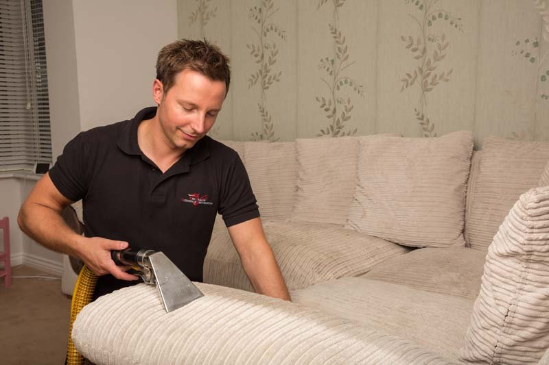 upholstery cleaning work
