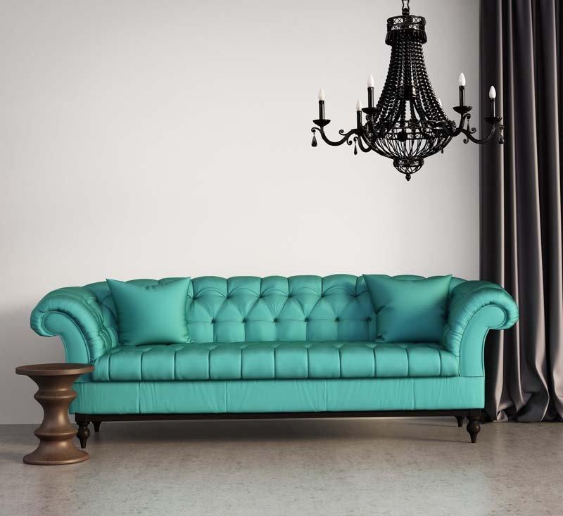 Tiffany coloured sofa