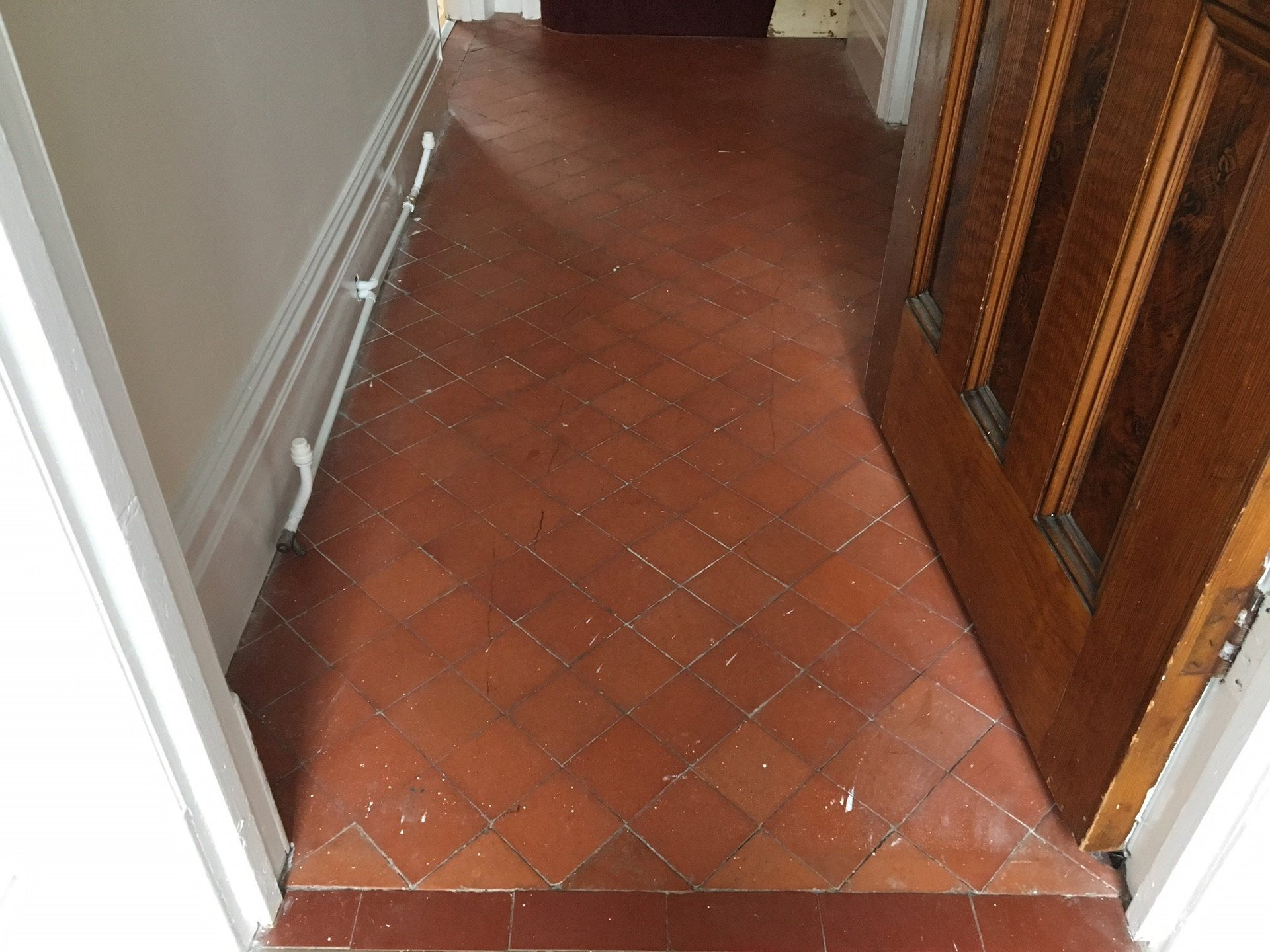 old and used floor