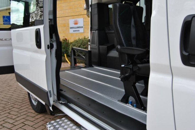 Large scale vehicles for transporting disabled people