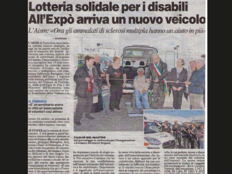 articolo lotteria disabili