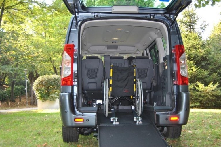 Fiat Scudo boot with wheelchair