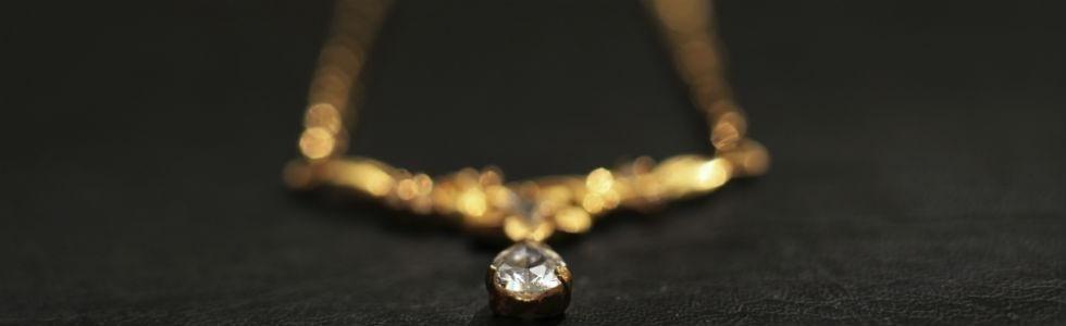 collana oro e diamante