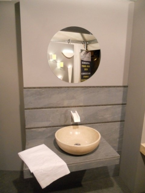 lavabo moderno in marmo