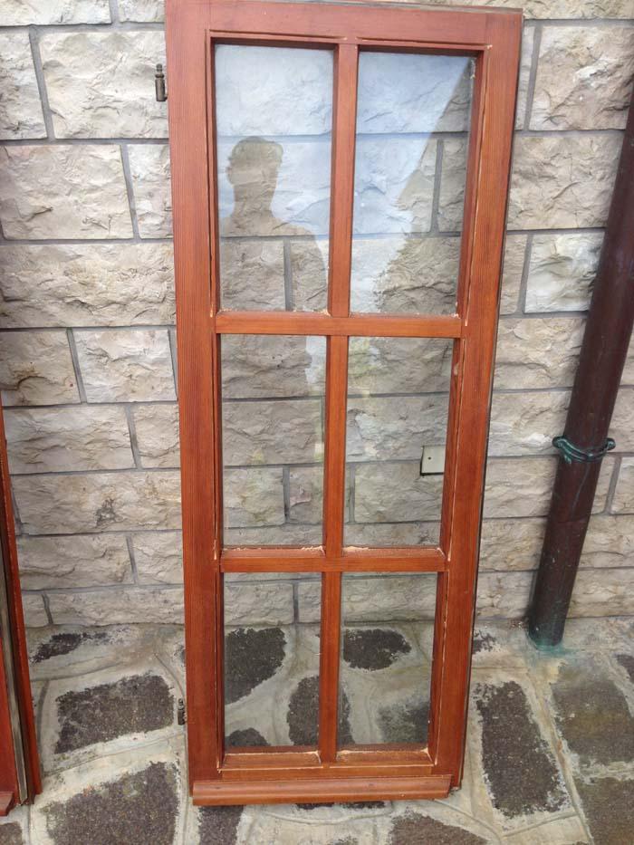 finestra all'inglese su cui monteremo il doppio vetro
