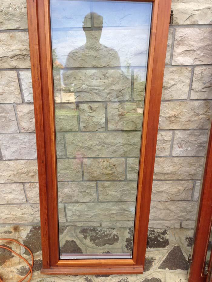 finestra ex stile inglese  con doppio vetro supercalor
