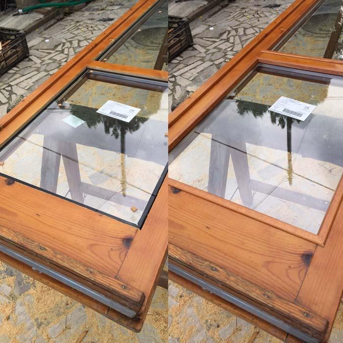 fase finale inserimento doppio vetro