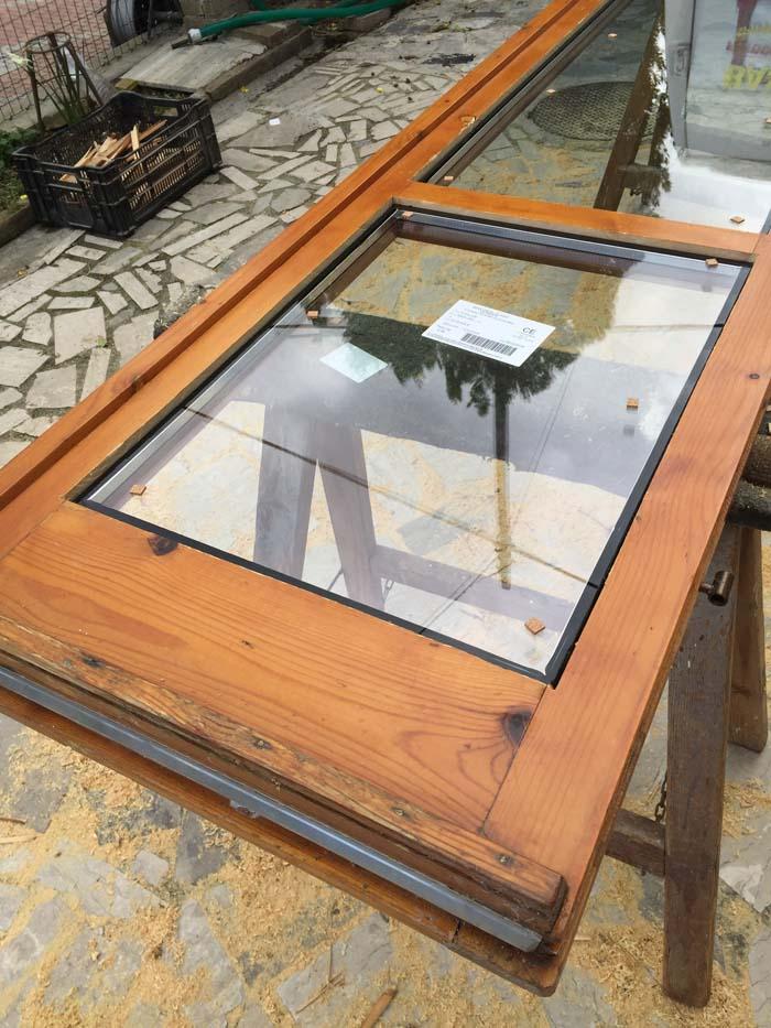 inserimento doppio vetro