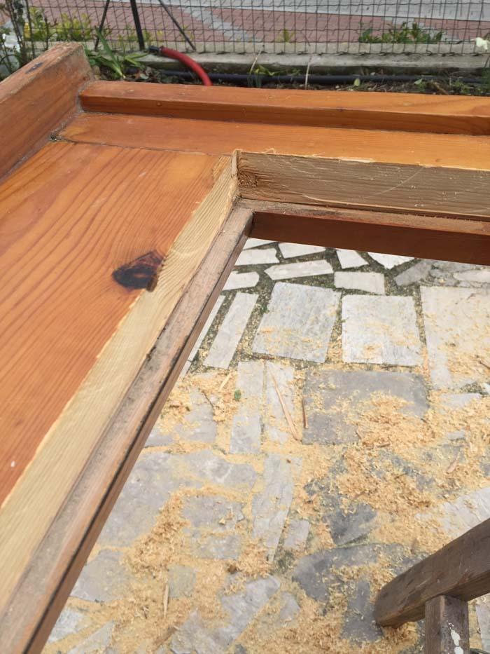 sede per doppio vetro su finestra in legno