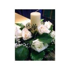 fiori con candela