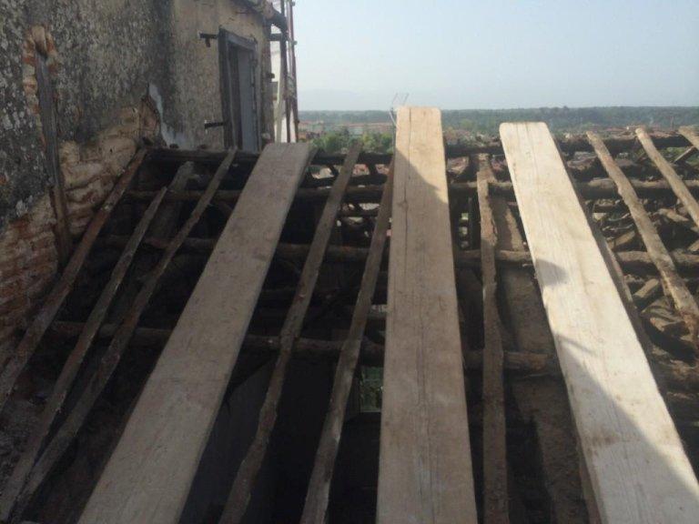 Copertura in legno con lamiere coibentate